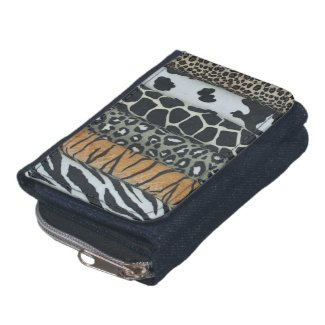 Animal Print Leather Wallet