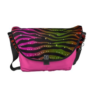 Animal Print Pattern Rickshaw Messenger Bag