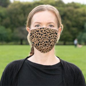 Animal Skin Spot Pattern | Brown Cloth Face Mask
