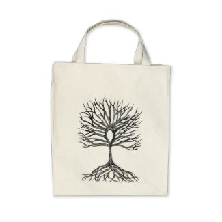 Ankh Tree of LIfe Design Canvas Bag