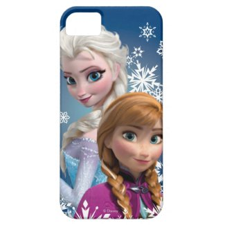 Anna and Elsa with Snowflakes Case For iPhone 5/5S