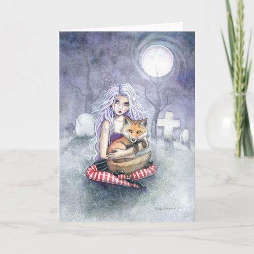 Annie's Fox Greeting Card by Molly Harrison