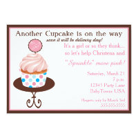 Another Cupcake Baby Sprinkle Invitation (Pink)