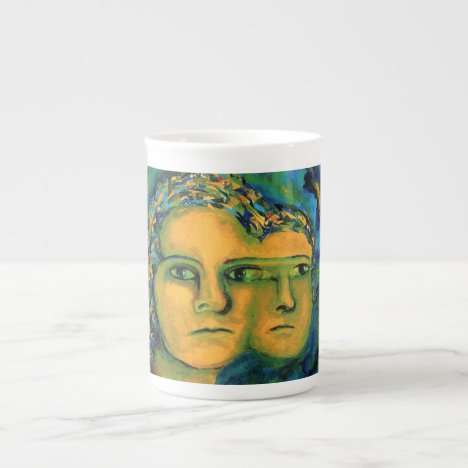 Anticipation - Gold and Emerald Goddess Tea Cup