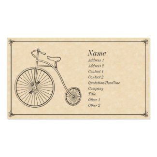 Antique Bicycle Business Cards