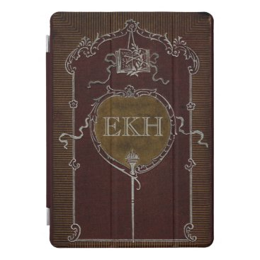 Antique Book with Personalized Frame iPad Pro Cover
