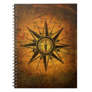 Antique Compass Rose Notebooks