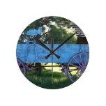 Antique wagon round clock