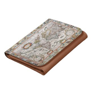 Antique World Map wallets