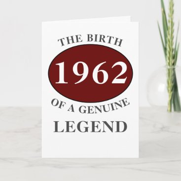 Any Year Born In Monogram Add Your Name Birthday Card
