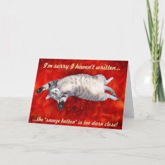 Apology Card card