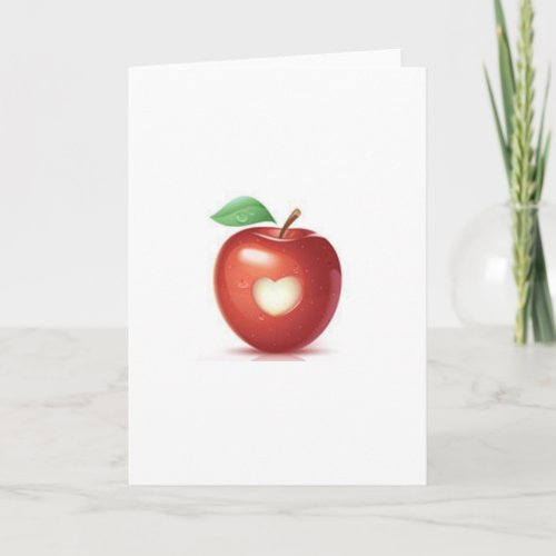 Apple heart holiday card