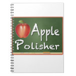 """Apple Polisher"" Spiral Notebooks"