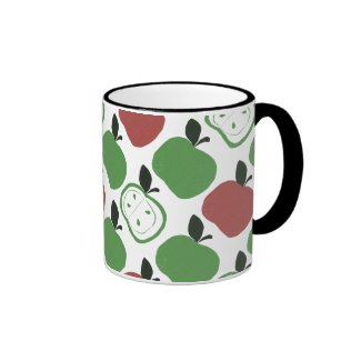 Apples Ringer Coffee Mug
