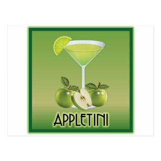 Appletini Green Postcard