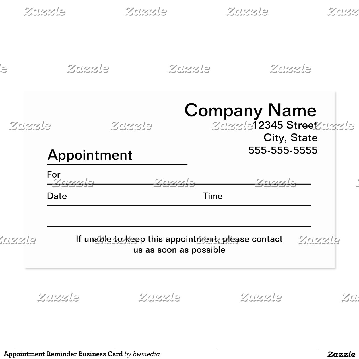 1000 images about appointment reminder business cards on 1000 – Reminder Card Template