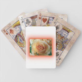 Apricot Rose Blur Playing Cards