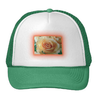 Apricot Rose Blur Trucker Hats