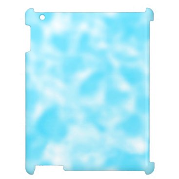 Aqua and White Mottled Case For The iPad