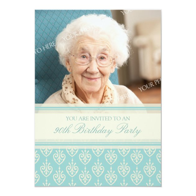 Save Date Cards 90th Birthday