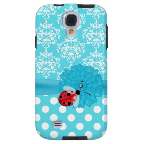 Aquamarine and Ladybug Samsung Galaxy S4 Case