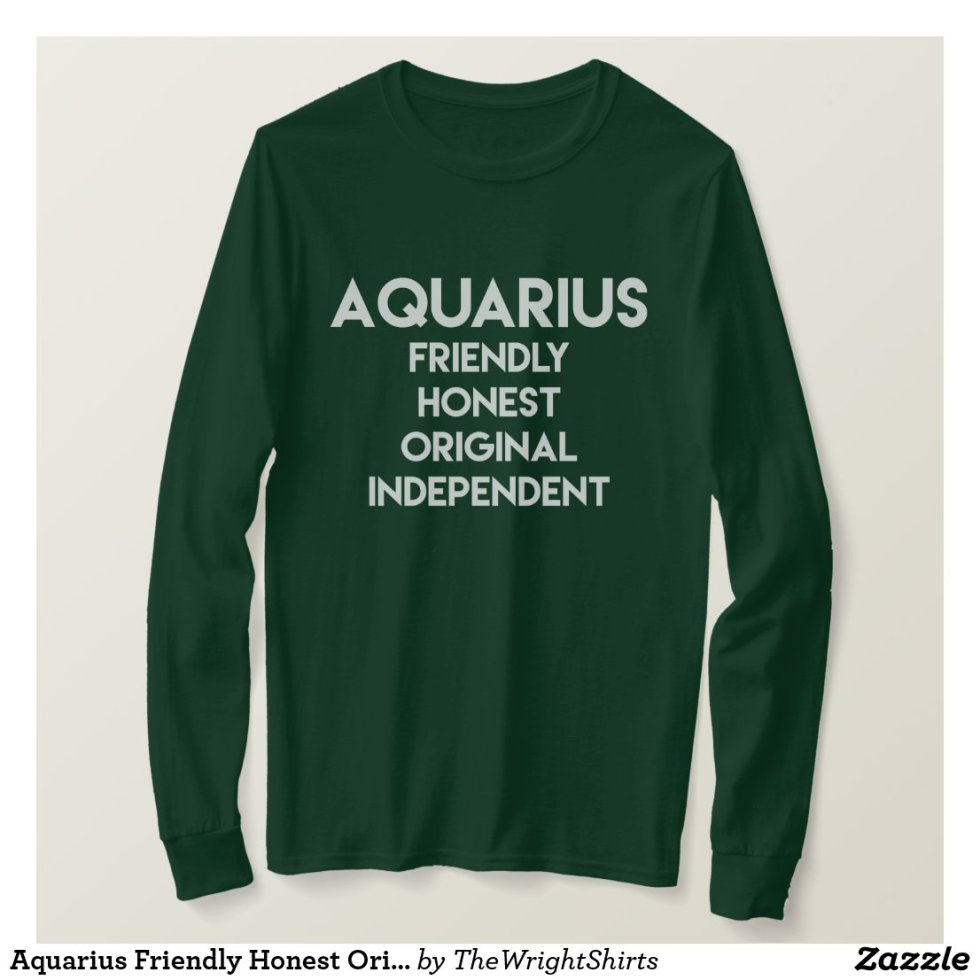 Aquarius Friendly Honest Original Independent T-Shirt
