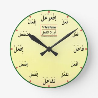 Arabic Verb Forms Clock