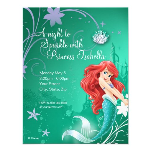 Little Mermaid Invitation Template The Princess