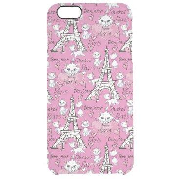 Aristocats | Monogram Marie Paris Pattern Clear iPhone 6 Plus Case
