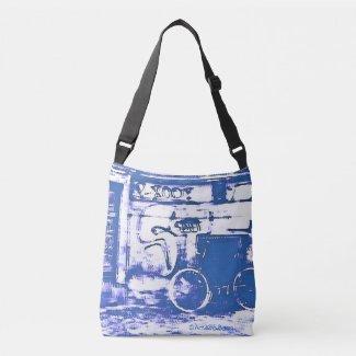 Art2Go Bags Blue#1 - All-Over-Print Cross Body Bag