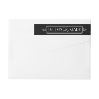 Art Deco Wedding | Return Address Wraparound Return Address Label