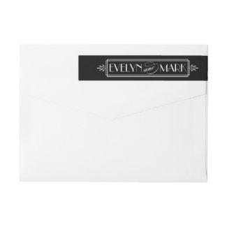 Art Deco Wedding | Return Address Wraparound Return Address Label