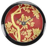 art nouveau,deco,asian,gold,red,vintage,rustic,flo fish tank clocks