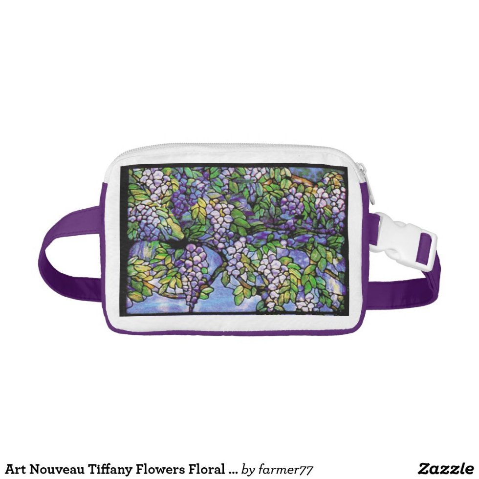 Art Nouveau Tiffany Flowers Floral Fanny Pack