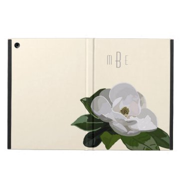 Artistic Magnolia Flower on Off White Case For iPad Air