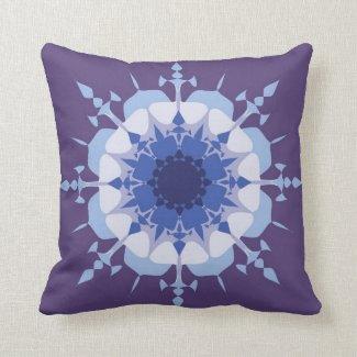 Artistic mandala design in blue