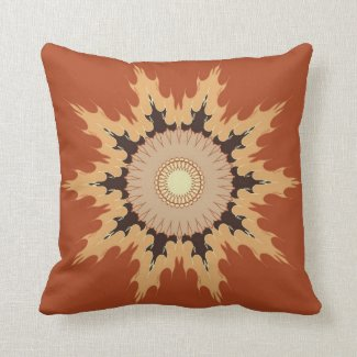Artistic mandala design in brown