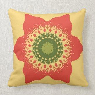Artistic mandala on beige pillows