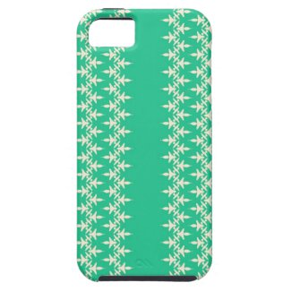 Artistic stripes on aqua green iPhone 5 cases