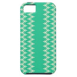 Artistic stripes on aqua green iPhone 5 cases
