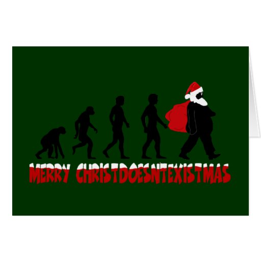 Atheist Christmas Card Zazzle