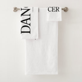 Athlete   Artist = Dancer Bath Towel Set