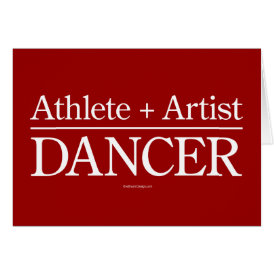 Athlete   Artist = Dancer Card