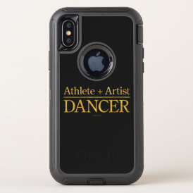 Athlete   Artist = Dancer OtterBox Defender iPhone X Case