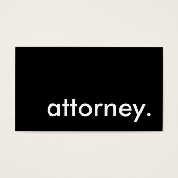 attorney. business card