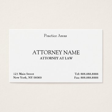 Attorney Elegant Clean Business Card