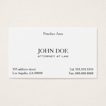 Attorney Elegant Clean II Business Card