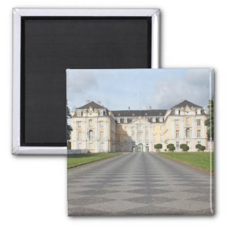 Augustusburg Palace in Brühl, Germany 2 Inch Square Magnet