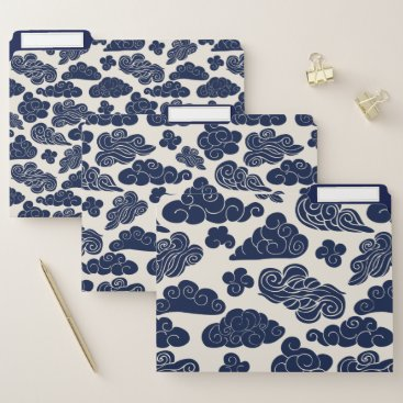 Auspicious Clouds Traditional Chinese Pattern FF File Folder