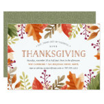 Autumn Bounty | Thanksgiving Dinner Invitation